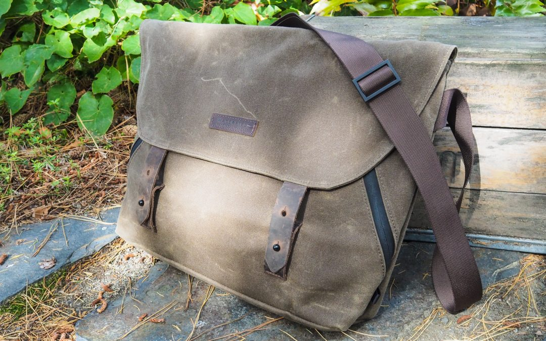 Waxed canvas messengers from Trakke, Waterfield and Mission Workshop are spacious and rugged
